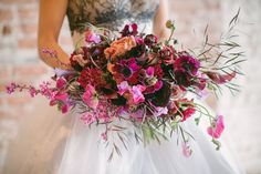 Textural pink bouquet