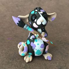 Summer Arts and crafts For Teenagers - Arts and crafts For Toddlers Preschool - Arts and crafts For Adults DIY - Polymer Clay Dragon, Polymer Clay Kawaii, Polymer Clay Figures, Polymer Clay Sculptures, Polymer Clay Animals, Polymer Clay Projects, Polymer Clay Charms, Polymer Clay Creations, Sculpture Clay