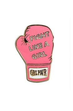 Fight Like a Girl Pin #feminism