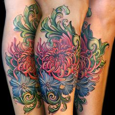 chrysanthemum and filigree 25 Unique Chrysanthemum Tattoo Designs Future Tattoos, Love Tattoos, Body Art Tattoos, New Tattoos, I Tattoo, Tattoos For Women, Tatoos, Awesome Tattoos, Prayer Tattoo