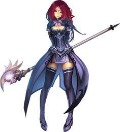 Garota Anime Mágia-Guerreira