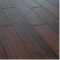 Wide Plank Flooring | love wide plank bevel edged hand scraped dark wood flooring