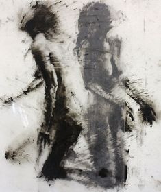 "Drawing Study | 36"" x 24"", printmaking ink on Dura-Lar 