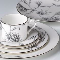 Floral Illustrations Dinnerware by Marchesa