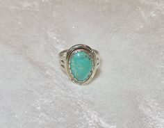 Turquoise ring, sterling silver ring, southwestern turquoise, handmade jewelry.