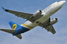 Ukraine Internation Airlines Boeing 737 taking off @ Schiphol Airport