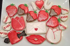 Sweetheat Platter - Decorated Sugar Cookies by I Am The Cookie Lady