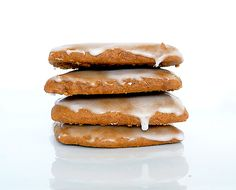 Lebkuchen - German Glazed Gingerbread Cookies (these are the non-dark-chocolate-dipped version)
