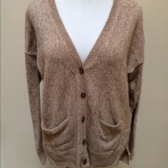 NWOT Madewell Oversized Cardigan Sweater NWOT Madewell Oversized Cardigan Sweater Women's Medium. New without tags! Brown and white weave pattern. Very clean and comes from smoke free home. Questions welcomed! Madewell Sweaters Cardigans