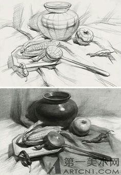 Drawing Animals in the Zoo - Drawing On Demand Pencil Drawing Tutorials, Pencil Art Drawings, Realistic Drawings, Cartoon Drawings, Animal Drawings, Drawing Sketches, Still Life Sketch, Still Life Drawing, Still Life Art