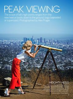 """Peak Viewing"" : Candice Swanepoel : US Vogue October 2012 : Alex Prager"