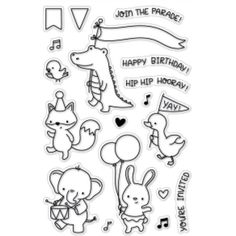Clear Stamps - Stamps & Stamping - Simon Says Stamp Diy Scrapbook, Scrapbook Albums, Scrapbooking, Tarjetas Stampin Up, Happy Birthday Words, Macaron Template, Jackson Pollock, Tampons, Stickers