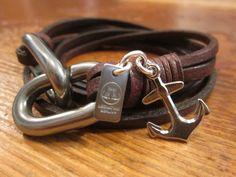 Handmade #Leather bracelet #mens
