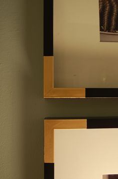 {DIY} Gold Painted Frame Corners