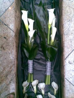 Calla lily hostess style bouquets