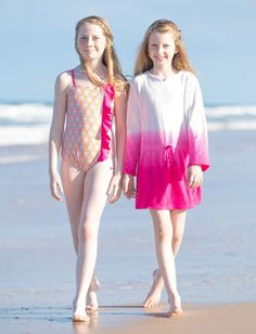 Big Girl's Boho Beach Swimsuit & Terry Cover up set, Sun Protective Clothing, Cabana Life Sun Protective Clothing, Queen Fashion, 2 Piece Swimsuits, Girls Swimming, Beachwear, Swimwear, Swimsuit Cover Ups, Stylish Girl, Bathing Suits