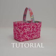 Basket Sewing Tutorial Bag PDF by littlelizardking