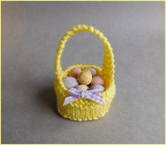 Two cute little knit easter basket patterns easter bunnies i love writing patterns that are simple to knit sweet little easter baskets easter basket basket pattern cast on kni negle Gallery