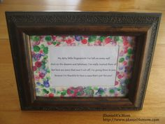 Decorate mat around poem for grandma for Mother's Day