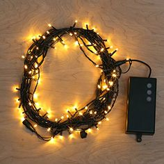 30 Ft Warm White 100 LED Battery Operated String Lights with 8 Functions and Timer Options * More info could be found at the image url.
