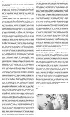 Harry's letter to Tessa. Bawl my eyes out EVERY time. It breaks me.