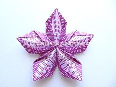 origami-modular-5-petal-flower, made this in 5 minutes. I love this site, so easy!