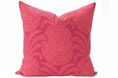 Pineapple pillow cover Coral and Dark Pink Pillow  Hawaiian