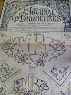 La Broderie Lyonnaise,French  Embroidery Pattern Monogrammes Sept 1966. £7.50, via Etsy.
