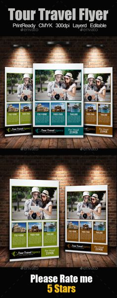 A4 Tour Travel Flyer - Corporate Flyers