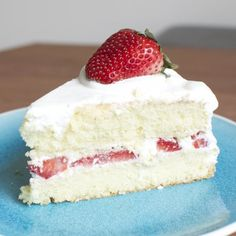 Japanese Strawberry Shortcake is fluffy and not too sweet. Super easy to make.
