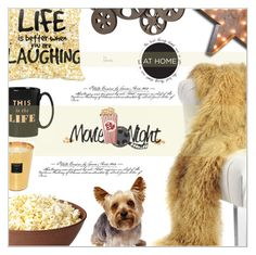"""""""Movie Night"""" by befunky ❤ liked on Polyvore featuring interior, interiors, interior design, home, home decor, interior decorating, Kate Spade, Baobab Collection, Vintage Marquee Lights and Benzara"""