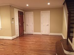 Red oak Minwax Provincial stain after gloss and satin finish Vinyl Plank Flooring, Kitchen Flooring, Wood Flooring, Red Oak Floors, Hardwood Floors, Oak Floor Stains, House Staircase, Stairs, Wood Floor Stain Colors