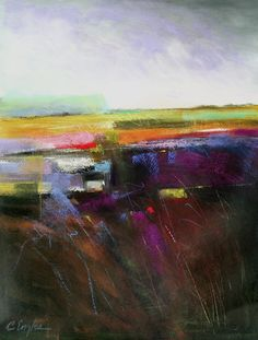 Lavender Sky Two, abstract landscape by Carol Engles