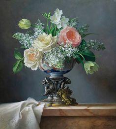Por amor al arte: Pieter Wagemans Large Flower Arrangements, Flower Vases, Flower Art, Academic Art, Gifts For An Artist, Still Life Art, Fruit Art, Arte Floral, Color Of Life
