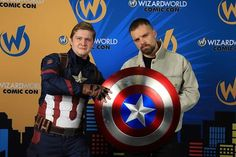"Full resolution photo of Sebastian Stan (Winter Soldier) and myself (Captain America) at our private meet and greet at Wizard World - St. Louis! I still get a lot of compliments from people about our photo op. I even get told it was the coolest one they've ever seen of Sebastian Stan. But honestly I had no ""cool photo op plan"". I just thought it would come at that moment and indeed it did. It was awesome to talk to him about my home city of St. Louis and have him come here for the first…"