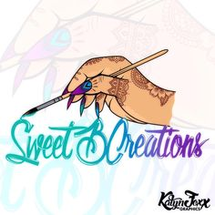 """Nail logo for @sweetbcreations follow her! Her nail creations are some of the best I've ever seen in my life! """