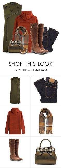 """""""Sleeveless Jacket"""" by mcclungkristina ❤ liked on Polyvore featuring River Island, Nudie Jeans Co., Diane Von Furstenberg, Miss Selfridge, Salvatore Ferragamo and Chico's"""