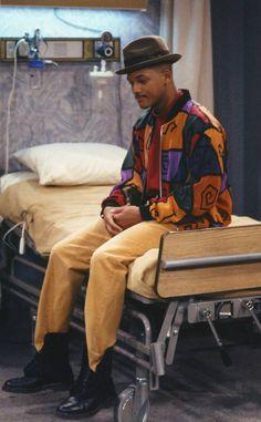 from Will Smith's Craziest Looks on The Fresh Prince of Bel-Air Fresh Prince, Rap, Pharrell Williams Hat, Willian Smith, Prinz Von Bel Air, 80s Fashion Men, Estilo Hip Hop, Vintage Black Glamour, Memes Br