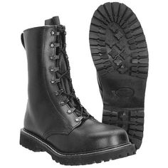 German Army Paratrooper Boots are available now at Military online store. We stock a huge collection of tactical boots, army boots and combat footwear, and will ship across the UK and Europe. Paratrooper Boots, Logger Boots, Mens Attire, German Army, Sport, Leather Men, Shoe Boots, Men's Boots, Combat Boots