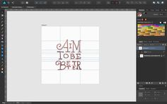 I'm not going to use @adobe Illustrator for vector work starting today. I'm trying to switch at least my lettering work and most of my graphic design work to @macaffinity's Affinity Designer.  #lettering #vector #design #tools #typography #affinitydesigner