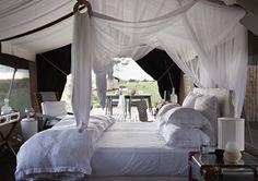 Tented Bedroom at Singita Mara River Camp, Serengeti Nationalpark, Tanzania