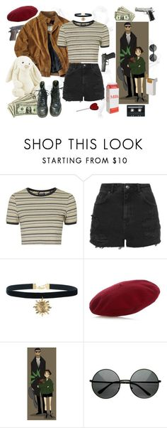"""Mathilda (Léon: The Professional) inspired outfit #2"" by sunflowerbud ❤ liked on Polyvore featuring Topshop, Jellycat, Gucci, CASSETTE, women's clothing, women's fashion, women, female, woman and misses"