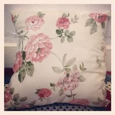 back of new gemmipop vintage cushion £15.00 in my stall!