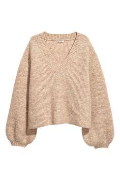 Pullover in misto mohair - Beige - DONNA Beige Pullover, Pullover Outfit, Beige Sweater, Sweater Shop, Sweater And Shorts, Sweater Outfits, Casual Outfits, Cute Outfits, Sweater Weather Outfits