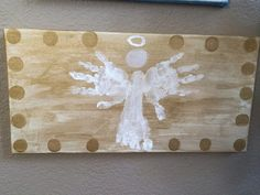 Hand print and foot print angel.  So sweet!
