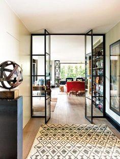 verrière intérieure, porte atelier, cloison vitrée pour l'intérieur