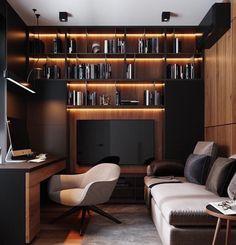 Home Studio Setup, Home Office Setup, Home Office Space, Office Ideas, Desk Setup, Cabin Office, Office Sofa, Cool Office, Home Room Design