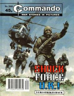 A cover gallery for the comic book Commando Old Comic Books, Comic Book Covers, War Comics, Picture Story, Comic Panels, Pulp Fiction, Comic Artist, Magazine Art, Comic Character