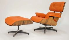 """""""Eames Lounge Chair and Ottoman in """"Hermes"""" orange"""" https://sumally.com/p/526498?object_id=ref%3AkwHNWXGBoXDOAAgIog%3AlVd4"""