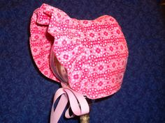 Winter Baby Bonnet Corduroy and Fleece Pink by AdorableandCute, $26.00